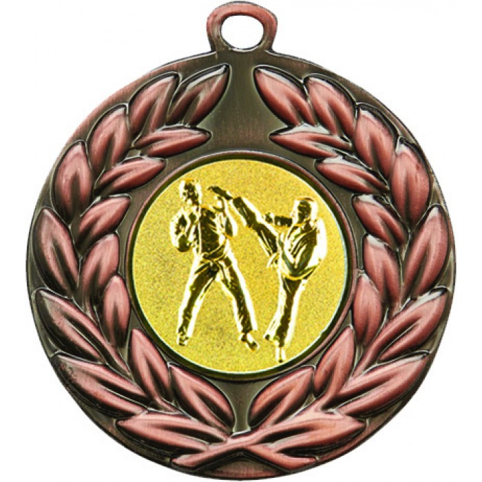 50MM BRONZE SPARRING MARTIAL ARTS MEDAL